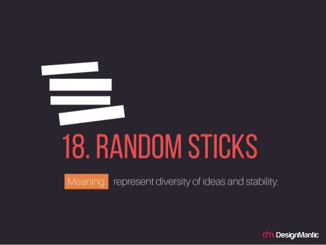Random Sticks: represent diversity of ideas and stability.
