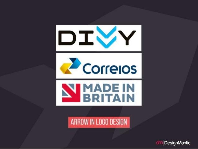 Arrow in logo design.