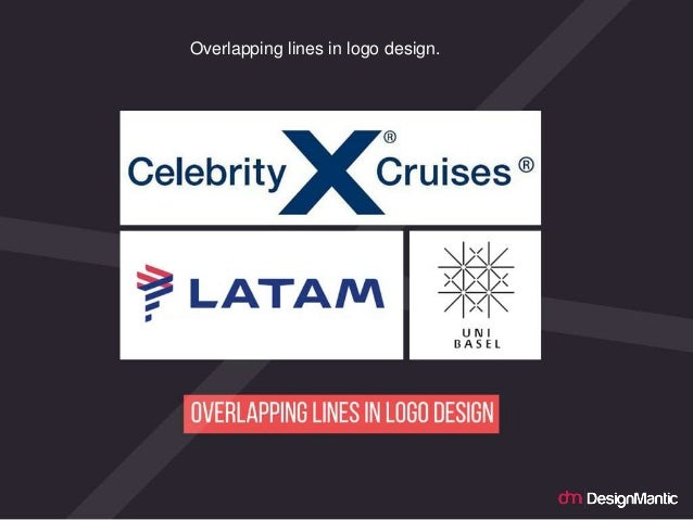 Overlapping lines in logo design.
