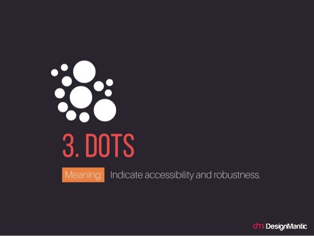 Overlapping Lines In Logo Design DOTS Indicate Accessibility And Robustness