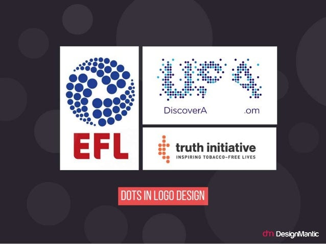Dots in logo design.
