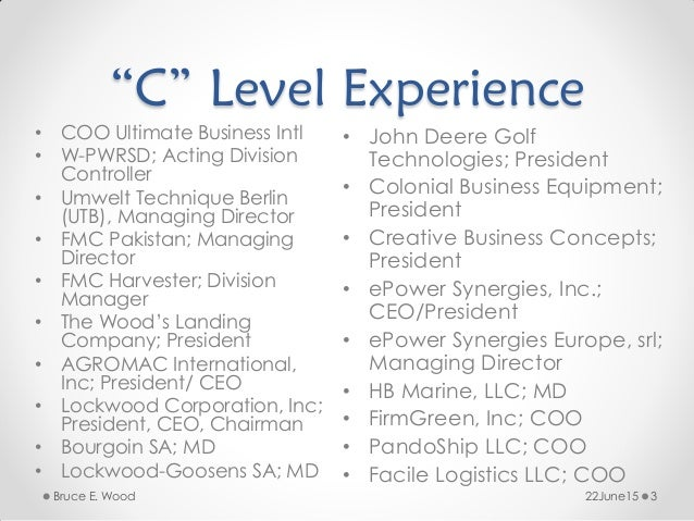 U201cCu201d Level ...  C Level Resume