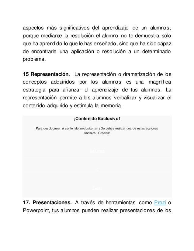 aspectos más significativos del aprendizaje de un alumnos, porque mediante la resolución el alumno no te demuestra sólo qu...