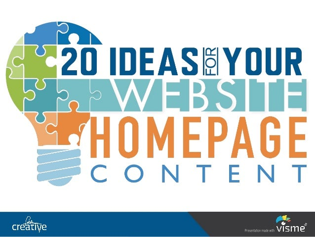 20 Ideas for your Website Homepage Content