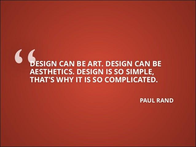 Design can be art for Minimal art slideshare