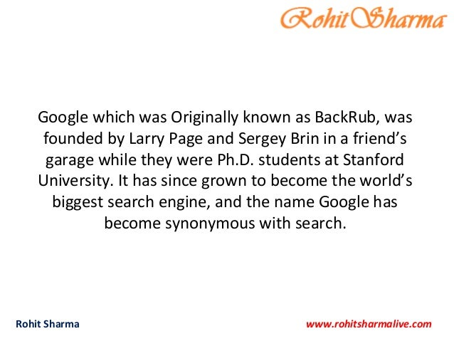 20 interesting facts about Google