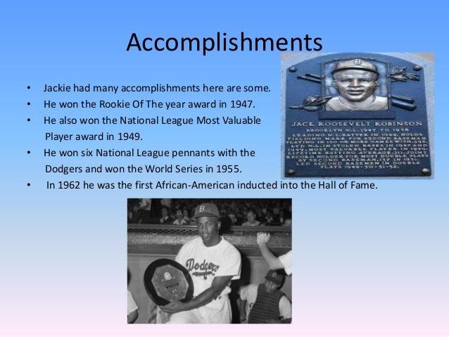 jackie robinson achievements