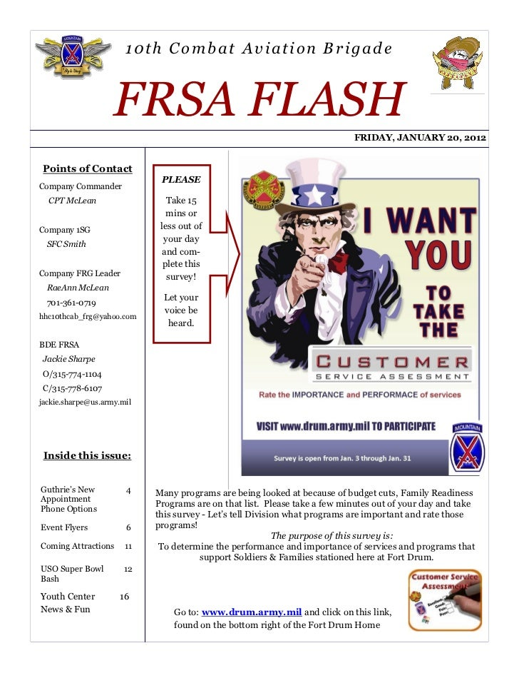 10th Combat Aviation Brigade                    FRSA FLASH                                                                ...