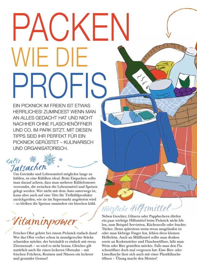 Kalte Tatsachen Nützliche Hilfsmittel Vitaminpower PACKEN WIE DIE PROFISEIN PICKNICK IM FREIEN IST ETWAS HERRLICHES! ZUMIN...