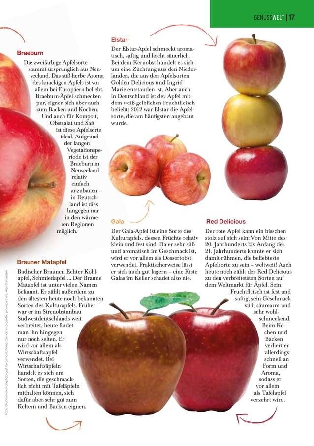 Braeburn Die zweifarbige Apfelsorte stammt ursprünglich aus Neu- seeland. Das süß-herbe Aroma des knackigen Apfels ist vor...