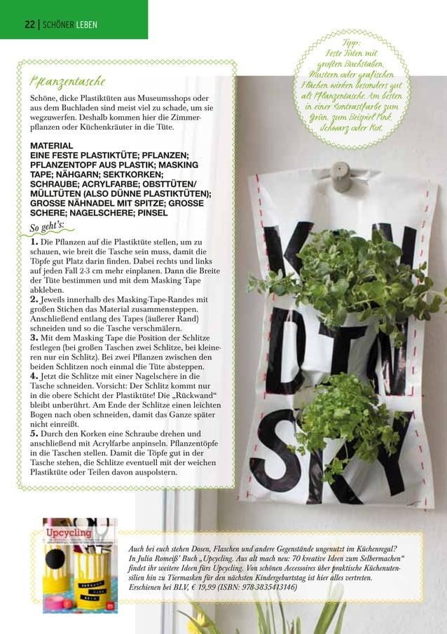 """Auch bei euch stehen Dosen, Flaschen und andere Gegenstände ungenutzt im Küchenregal? In Julia Romeiß' Buch """"Upcycling. Au..."""