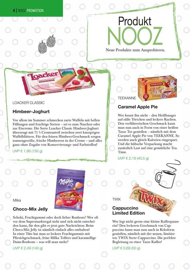 Neue Produkte zum Ausprobieren. Produkt NOOZ LOACKER CLASSIC Himbeer-Joghurt Vor allem im Sommer schmecken zarte Waffeln m...