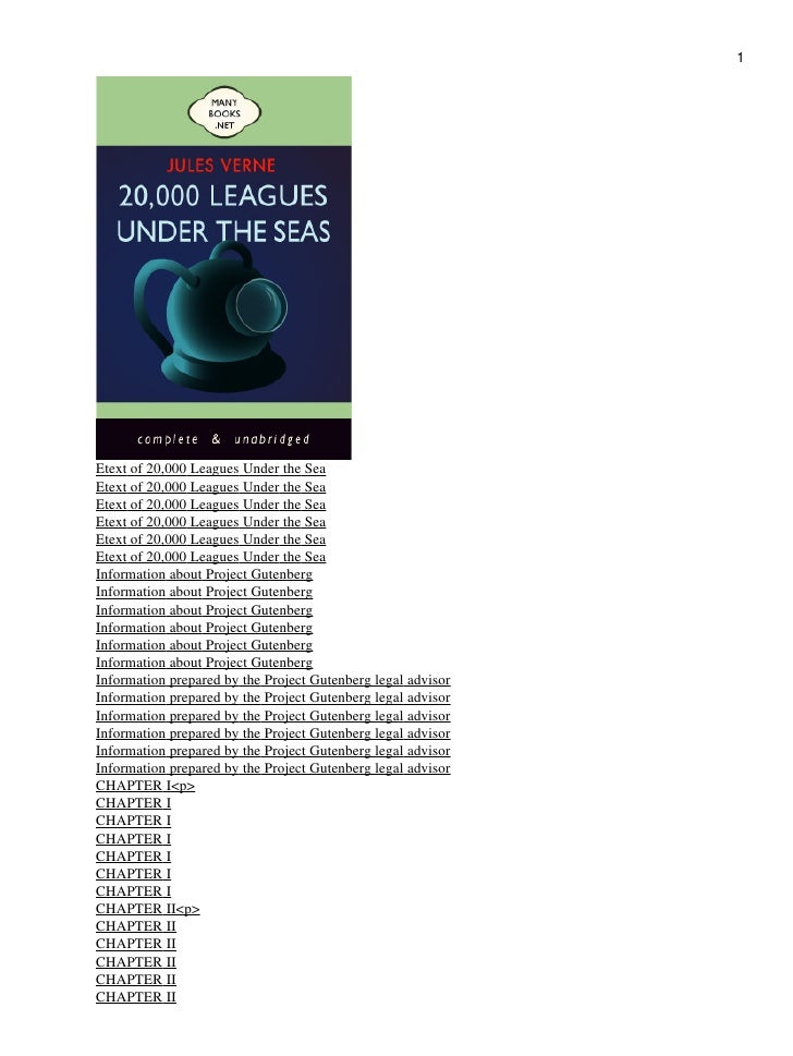 1Etext of 20,000 Leagues Under the SeaEtext of 20,000 Leagues Under the SeaEtext of 20,000 Leagues Under the SeaEtext of 2...