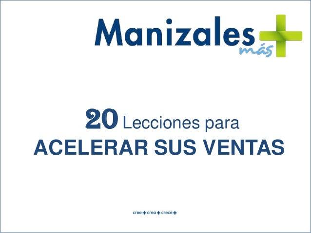 ACELERAR SUS VENTAS 20Lecciones para