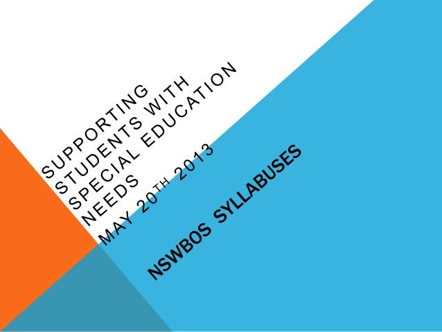 SUPPORTING STUDENTS WITH SPECIAL NEEDS Disability discrimination Act (1992) Students who are included in LNSLN funding + o...