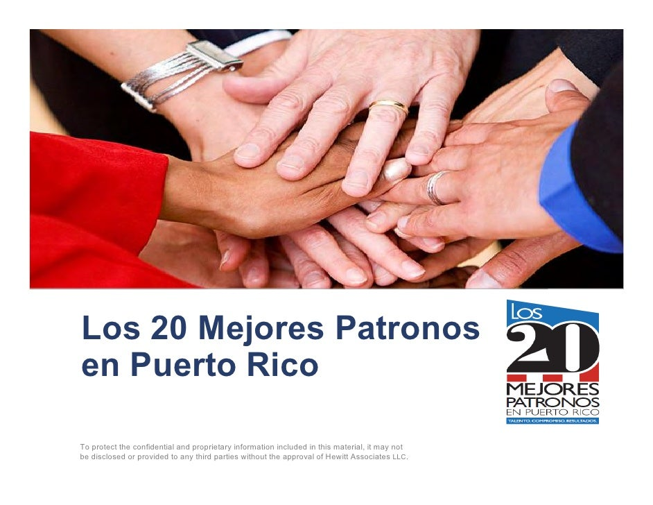 Los 20 Mejores Patronosen Puerto RicoTo protect the confidential and proprietary information included in this material, it...