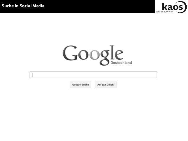 Suche in Social Media