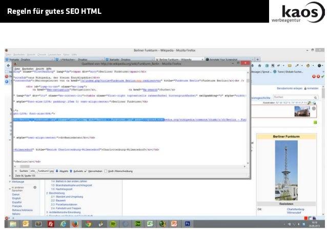 Regeln für gutes SEO HTML