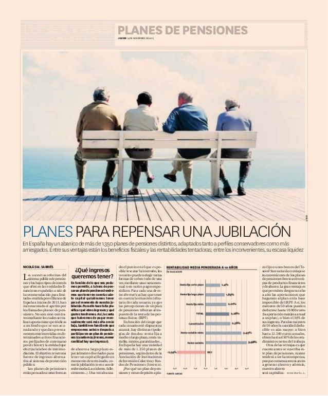 LOSEXTRAS LOSEXTRAS PLANES DE PENSIONES OS S JUEVES 14 DE NOVIEMBRE DE 2013 N  PLANESPARA PLANES PARA REPENSAR UNA JUBILAC...