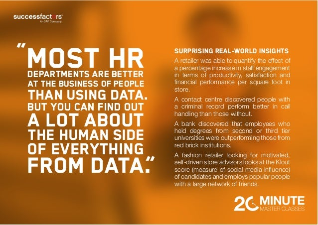 Quote HR IT Data People Analytics HR Quotes Quotes