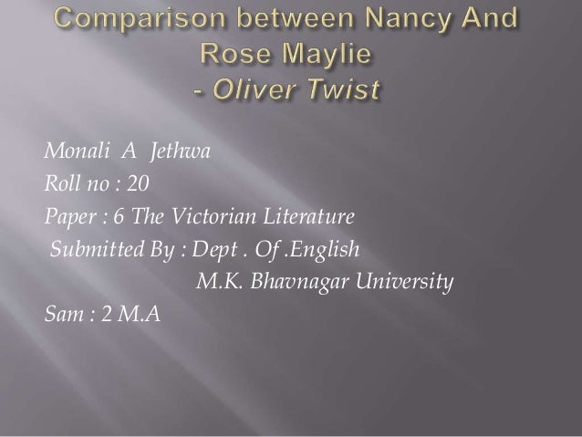 nancy in oliver twist character analysis