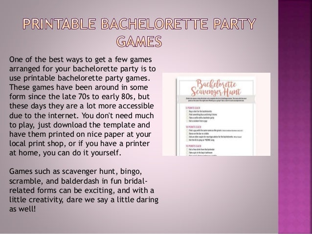 photograph about Printable Bachelorette Scavenger Hunt named 20 Maximum Well known Bachelorette Celebration Video games Within just 2018