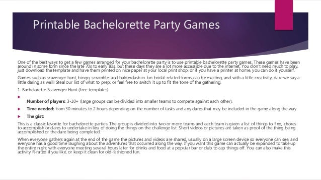 picture about Printable Bachelorette Party Games titled 20 Greatest Prominent Bachelorette Get together Video games Within just 2019