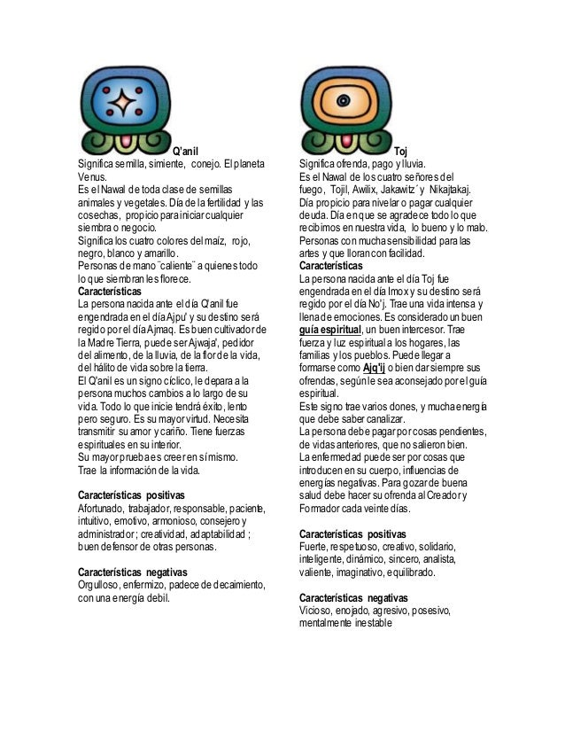 20 nahuales mayas - Cual es el color anil ...