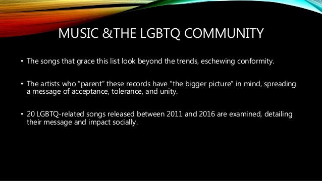 Songs about homosexuality