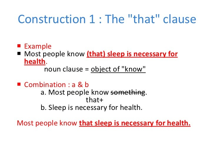 20 noun clause