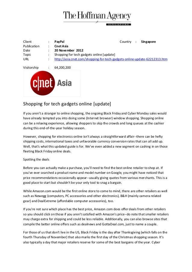 Client            :   PayPal                                     Country : SingaporePublication       :   Cnet AsiaDate   ...