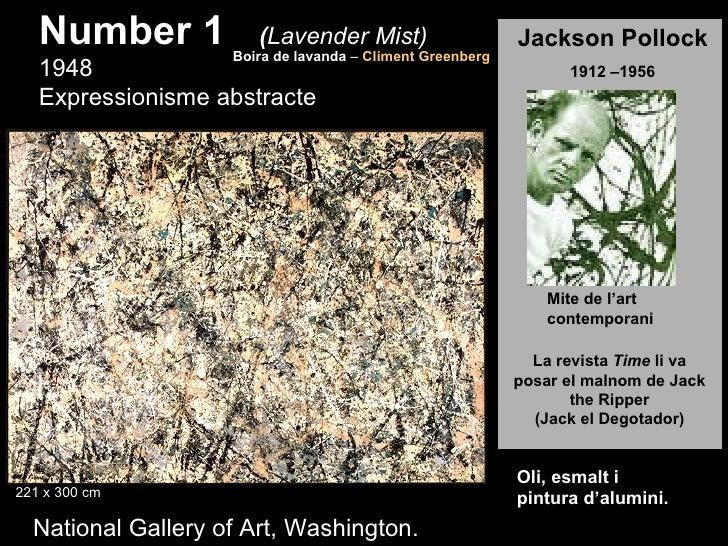 Number 1            (Lavender Mist)                     Boira de lavanda – Climent Greenberg                              ...