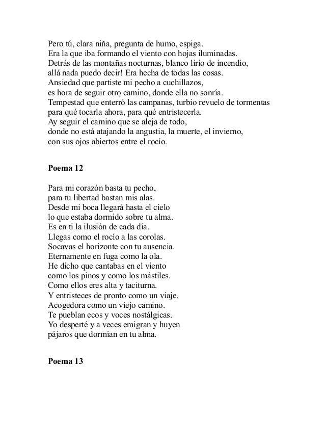 20 poemas de amor y una cancion desesperada pablo neruda for Poemas de invierno pablo neruda