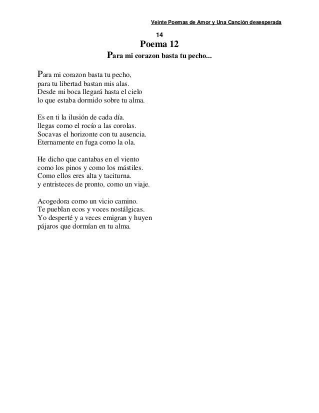 20 poemas y una canci n desesperada de p ablo neruda for Poemas de invierno pablo neruda
