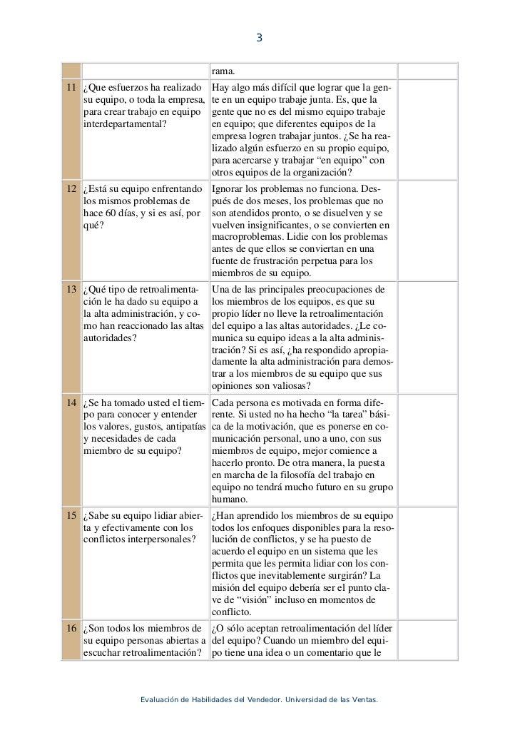 20 preguntas para medir el trabajo en equipo Slide 3