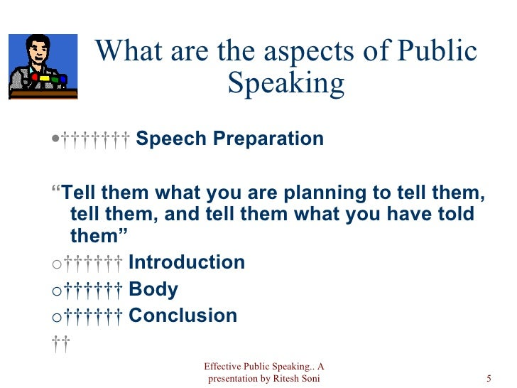 aspects of public speaking
