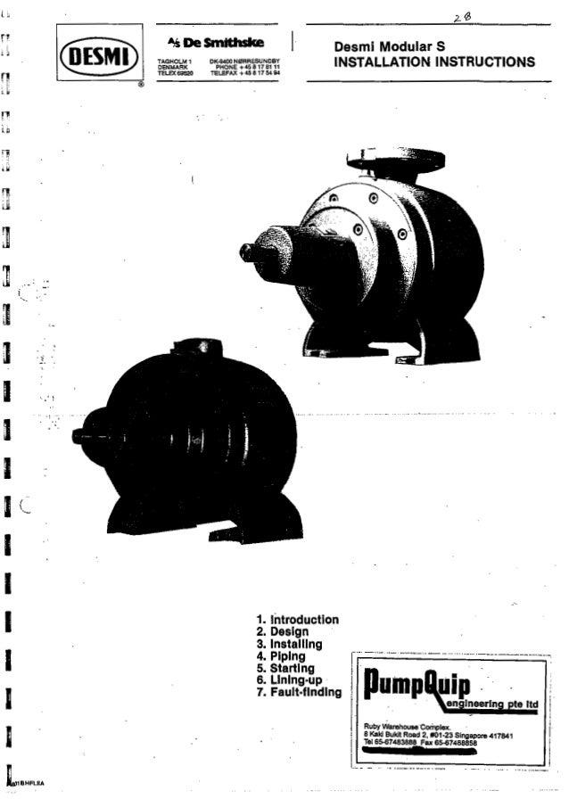 20 pump manual desmi
