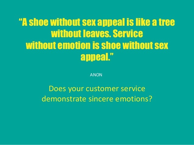 Sex with customer experience