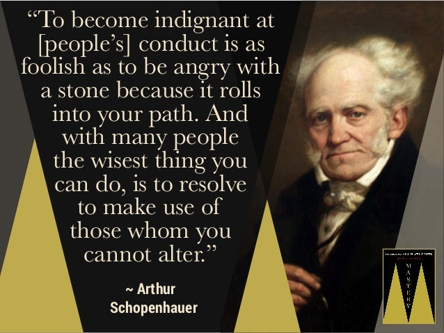 """""""To become indignant at [people's] conduct is as foolish as to be angry with a stone because it rolls into your path. And ..."""