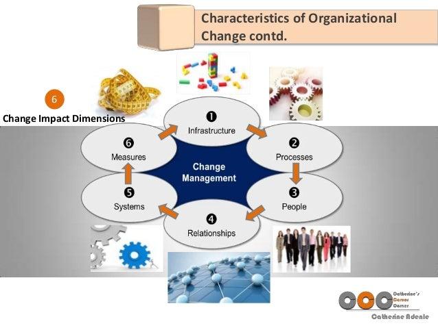 Catherine Adenle 6 Change Impact Dimensions Characteristics of Organizational Change contd.