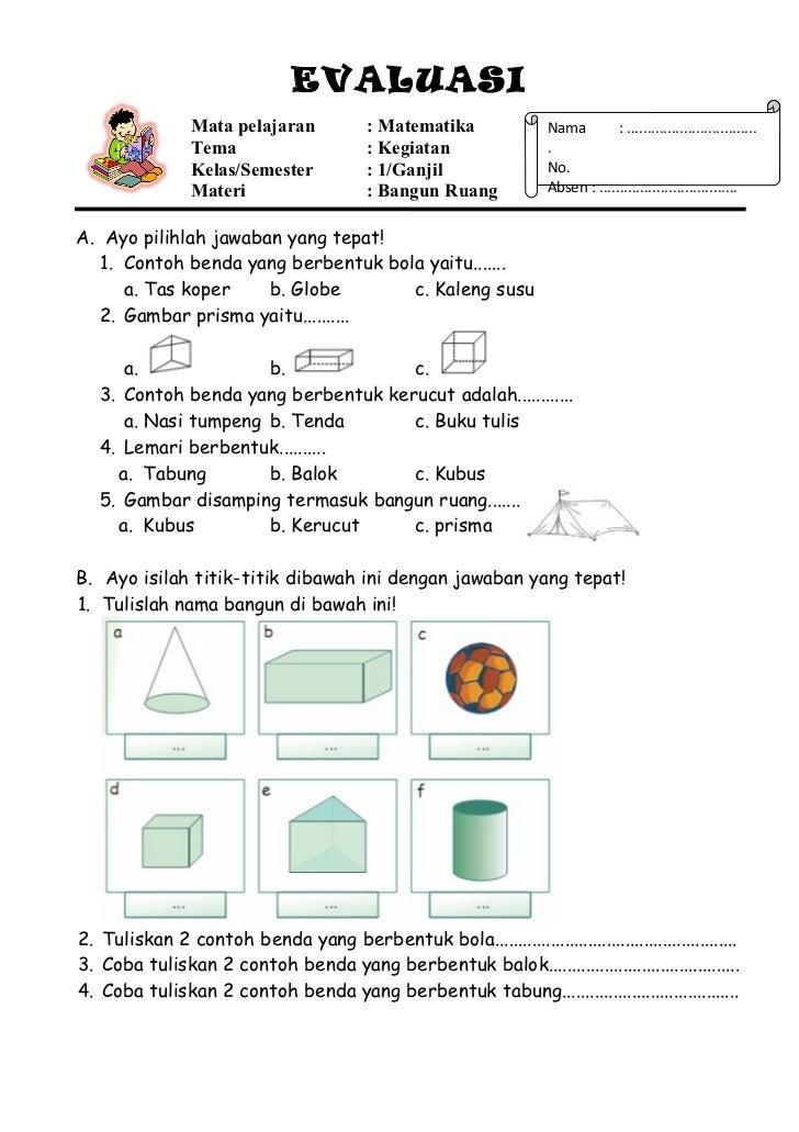 20 Rpp Matematika Bangun Ruang 1a