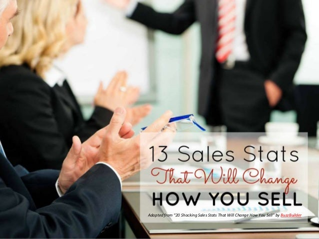 "Adapted from ""20 Shocking Sales Stats That Will Change How You Sell"" by BuzzBuilder"