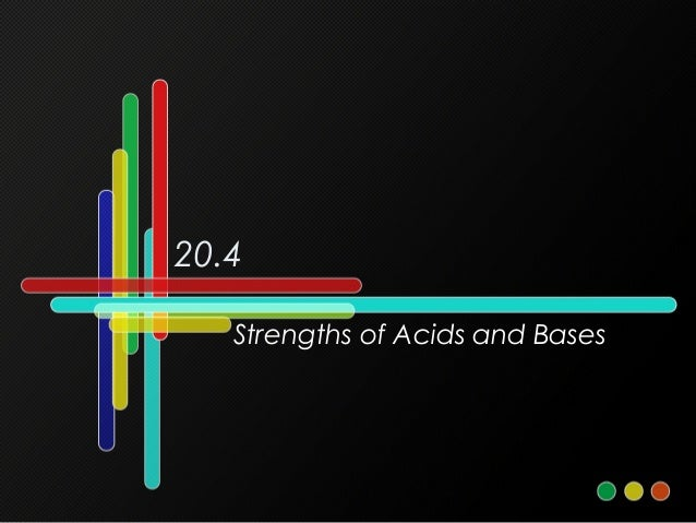 20.4 Strengths of Acids and Bases