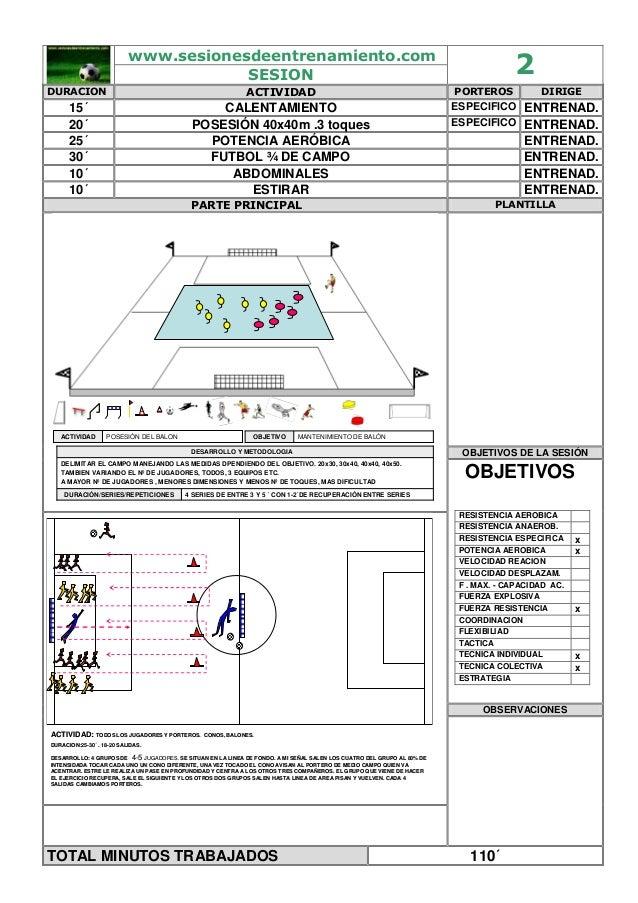 20 sesiones de entrenaiento futbol
