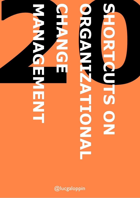 20 Shortcuts On Organizational Change Management