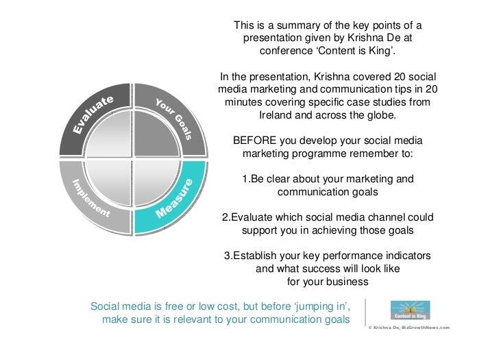 20 Social Media Best Practice Tips Slide 2