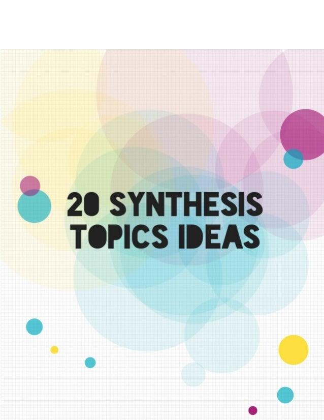 explanatory synthesis essay topics