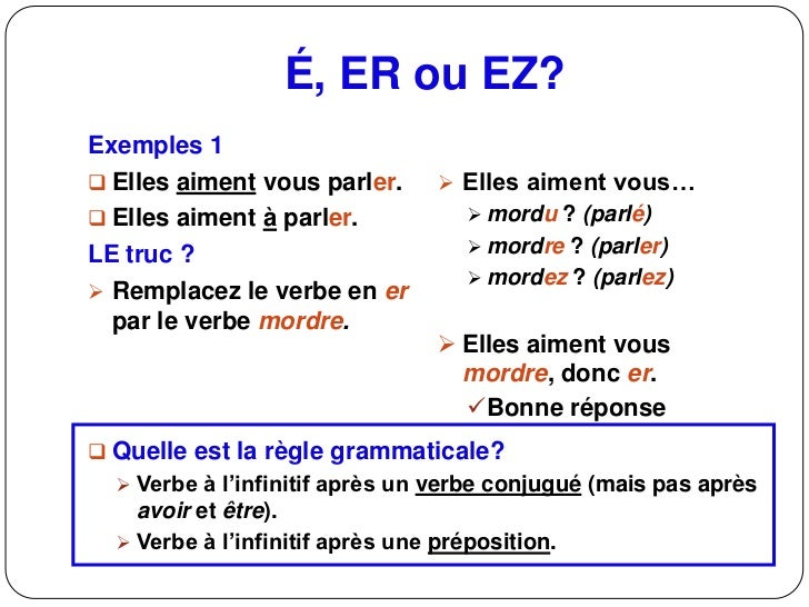 20 Terminaison Des Verbes E 2c Er 2c Ez2012 Nd