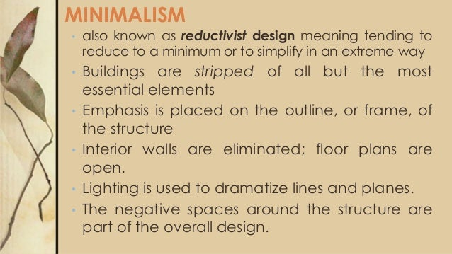 20th century architecture for Meaning of minimalist design