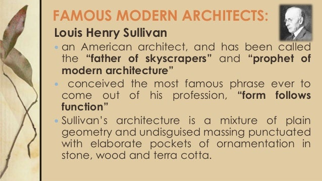 Famous 20Th Century Architects 20th century architecture
